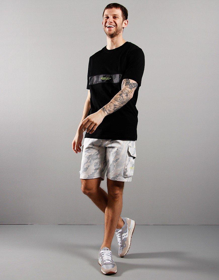 Marshall Artist Data Cut And Sew T-Shirt Black