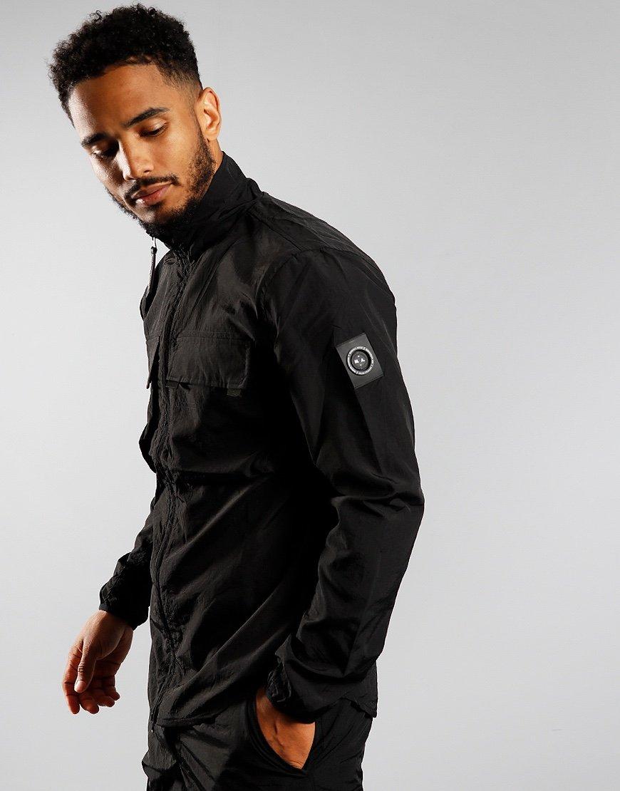 Marshall Artist Garment Dyed Parachute Overshirt Black