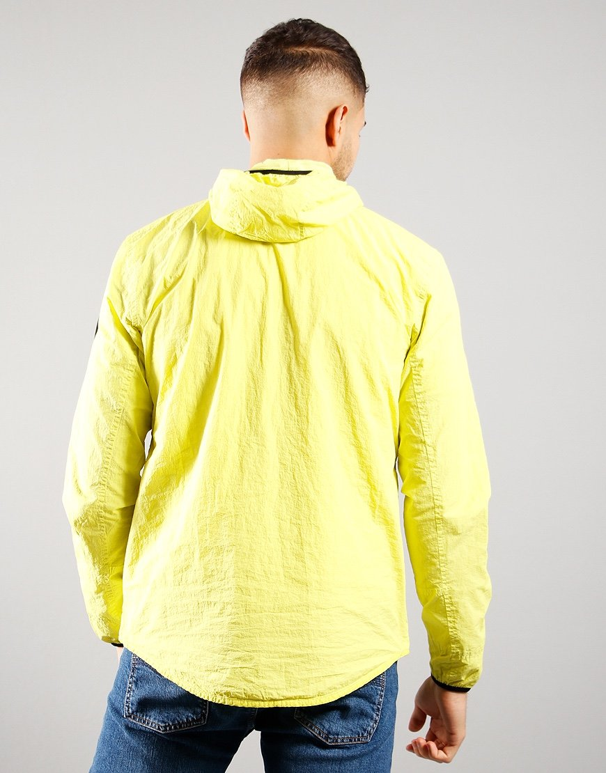 Marshall artist Garment Dyed Hooded Overshirt Faded Lime