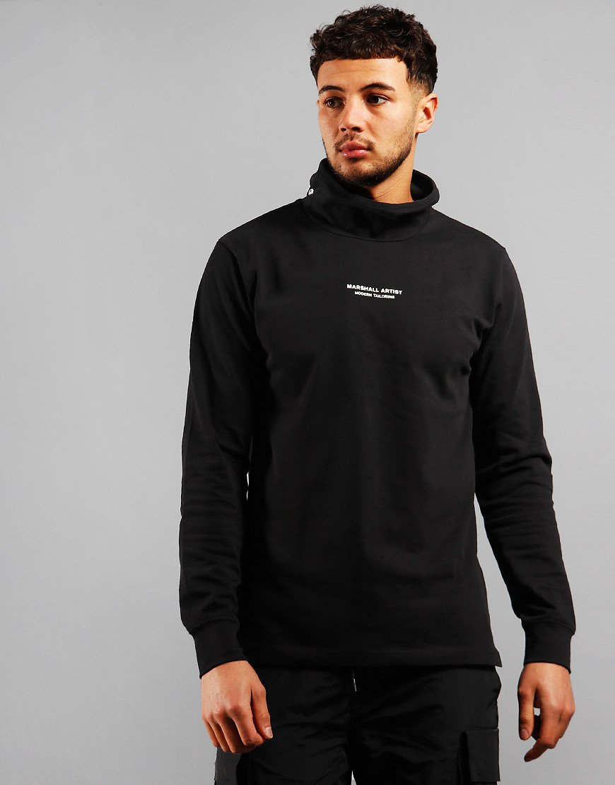 Marshall Artist Hybrid Roll Neck Sweat Black