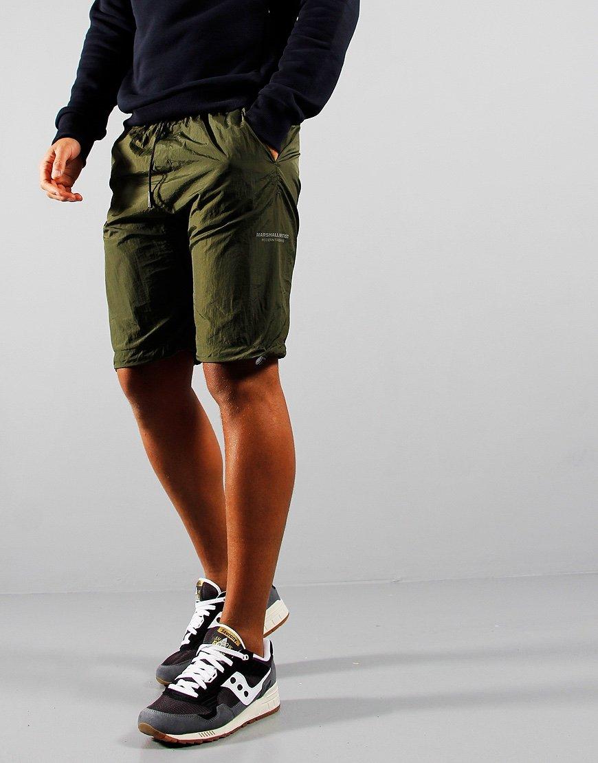 Marshall Artist Liquid Nylon Shorts Khaki