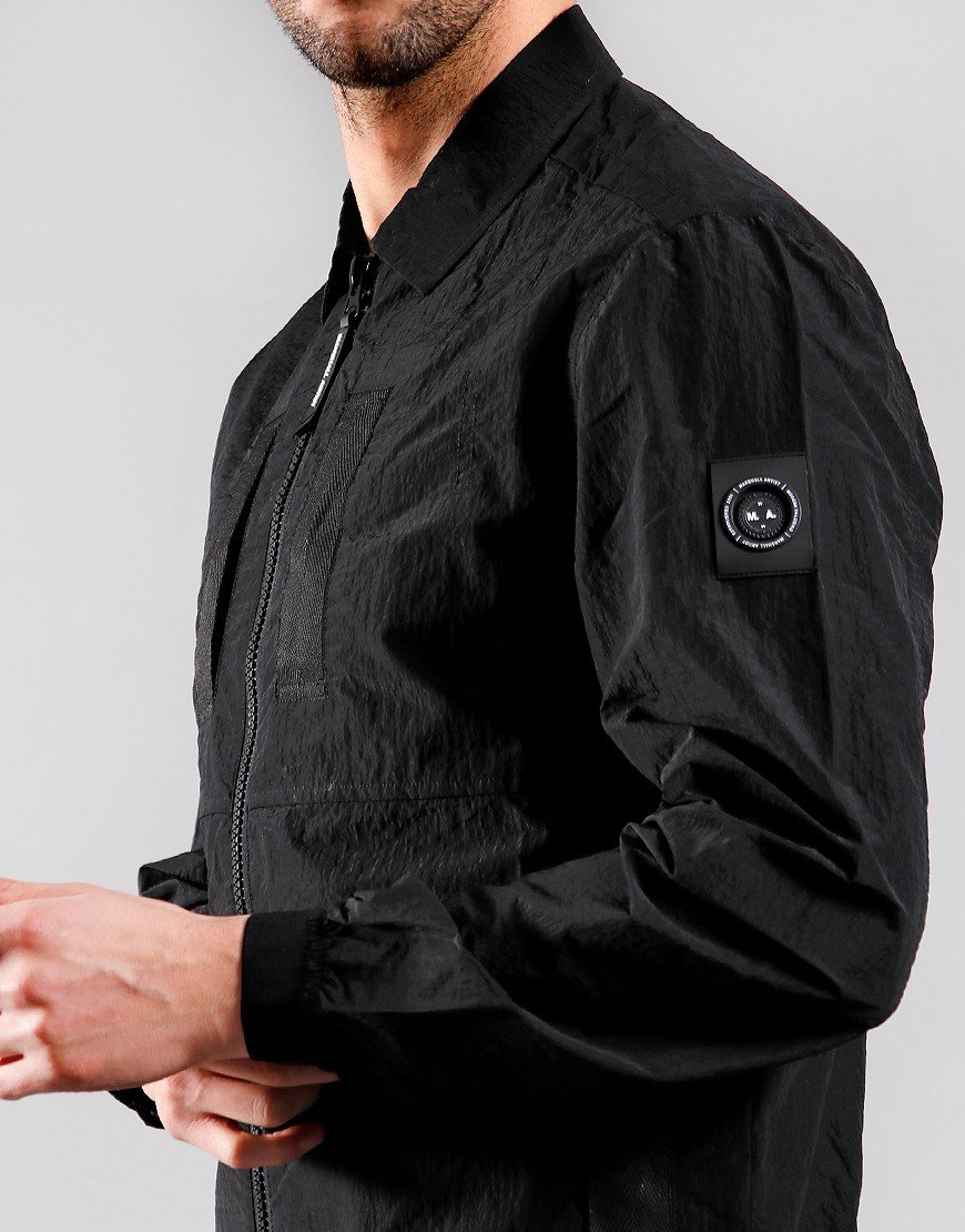Marshall Artist Liquid Ripstop Overshirt Black