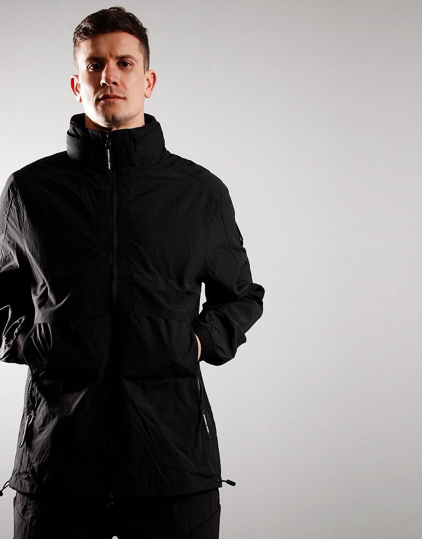 Marshall Artist Acier Long Line Parka Jacket Black