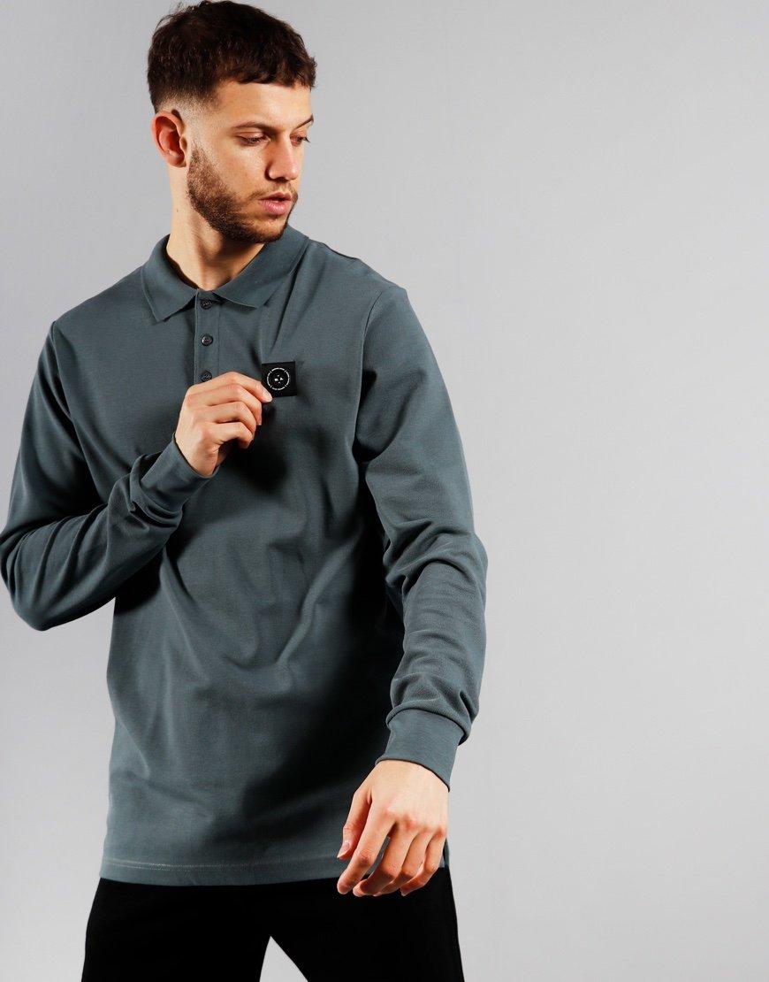 Marshall Artist Siren Long Sleeve Polo Grey