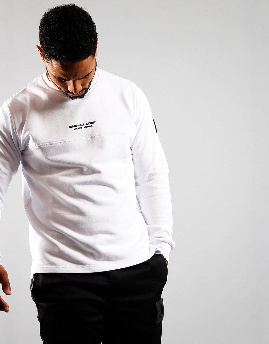Marshall Artist Open Hem Crew Sweatshirt White