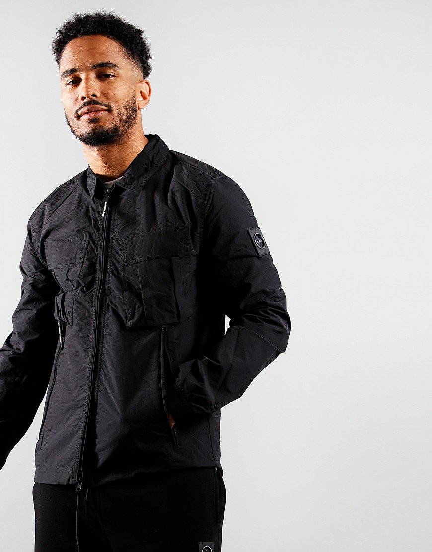 Marshall Artist Cotton Polyamide Overshirt Black