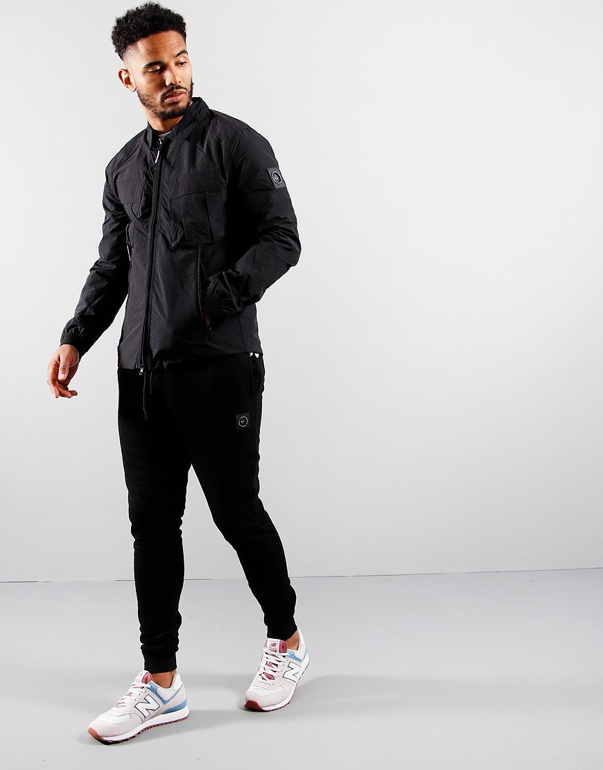 Marshall Artist Cotton Polyamide Overshirt Black