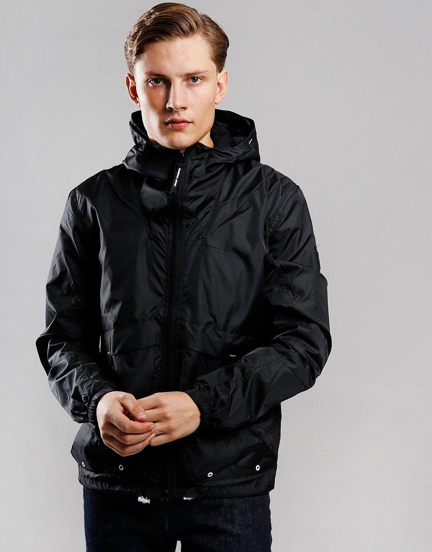Marshall Artist Ripstop Windrunner Jacket Black