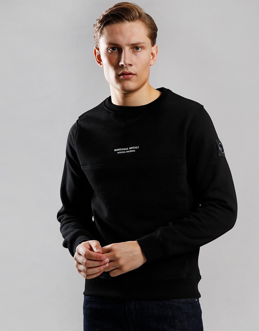 Marshall Artist Siren Crew Neck Sweat Black