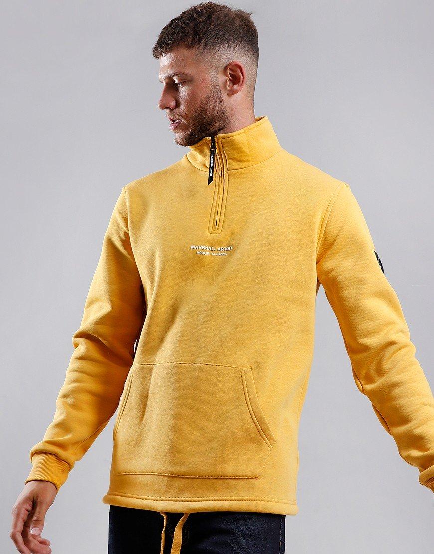 Marshall Artist Siren Half Zip Sweat Mustard