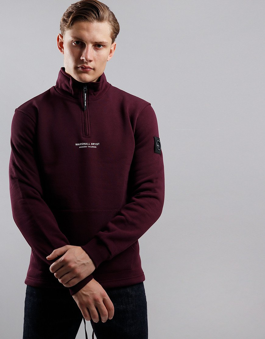 Marshall Artist Siren Half Zip Sweat Burgundy