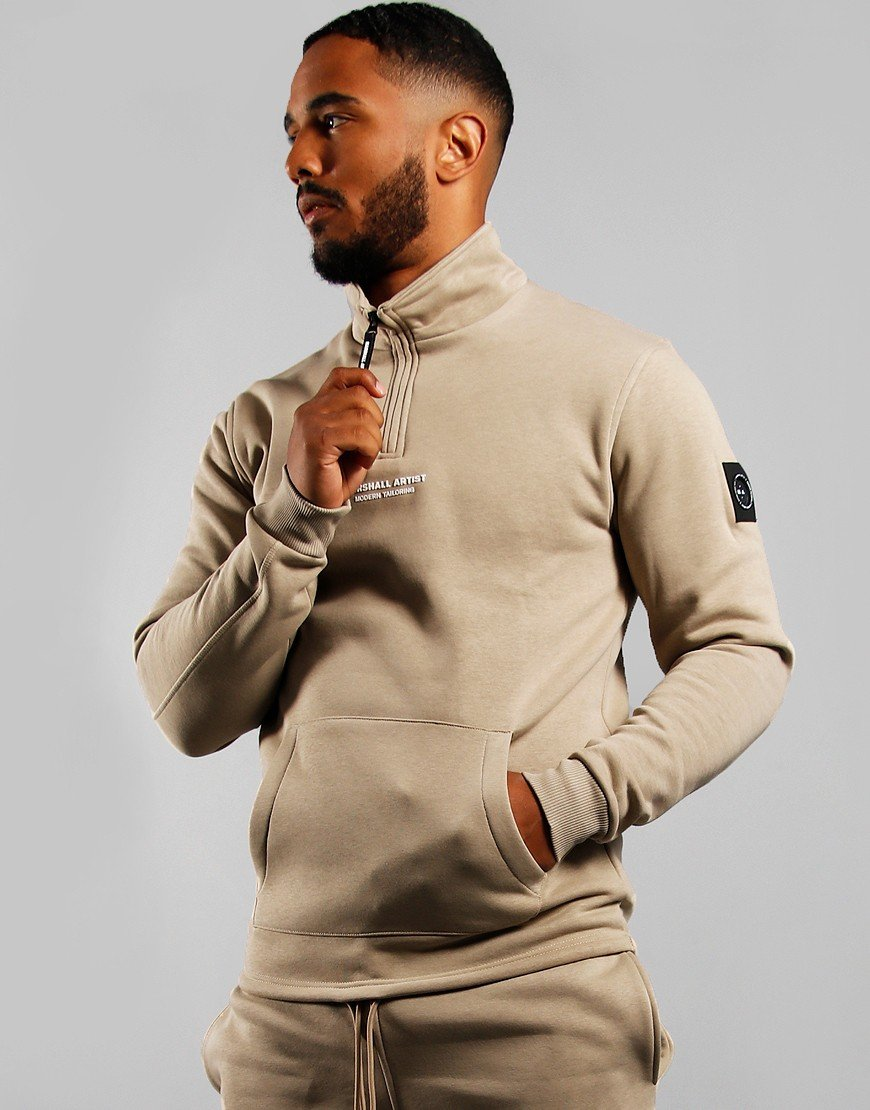 Marshall Artist Siren Half Zip Sweatshirt Grey Stone