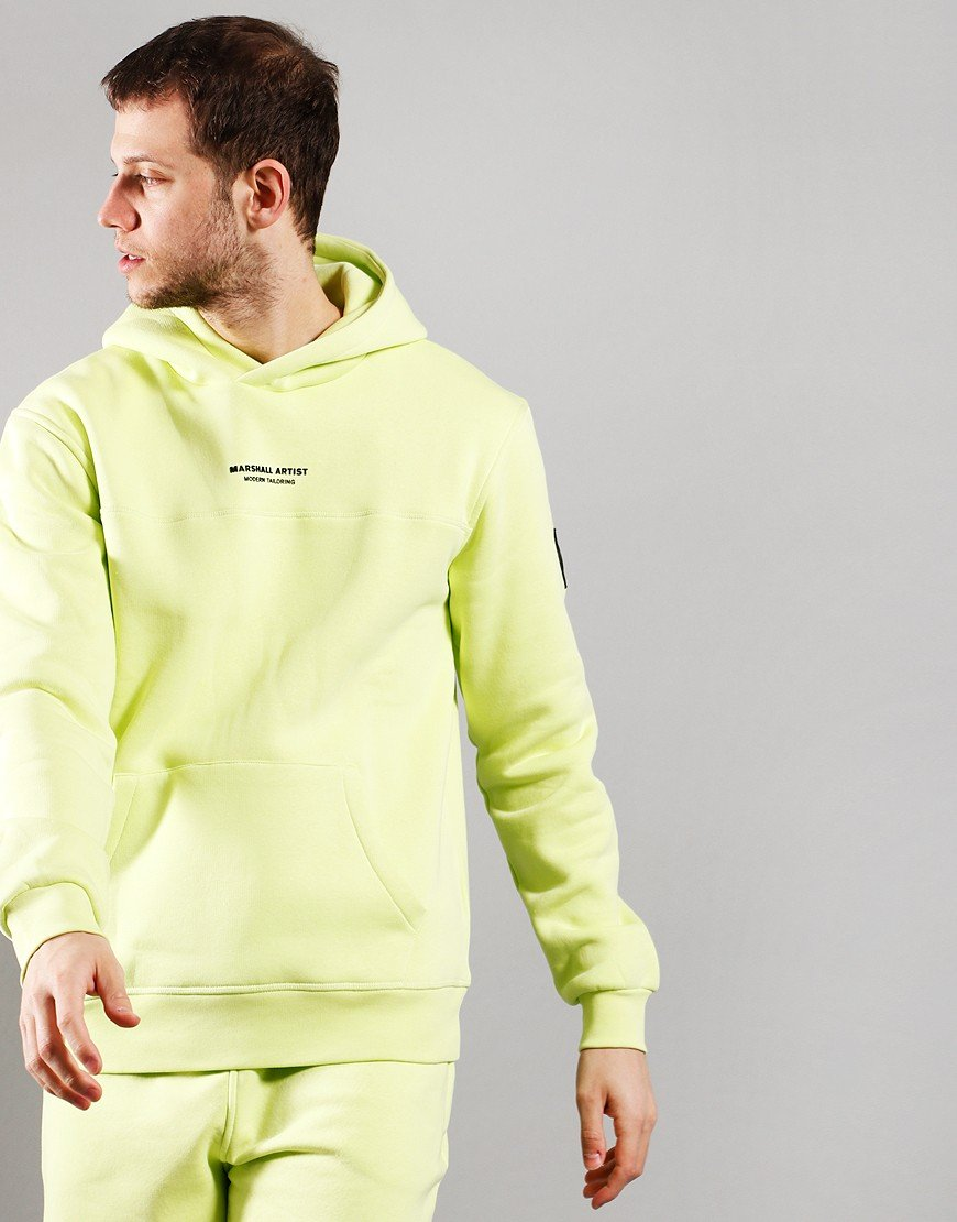 Marshall Artist Siren OTH Hooded Sweat Faded Lime