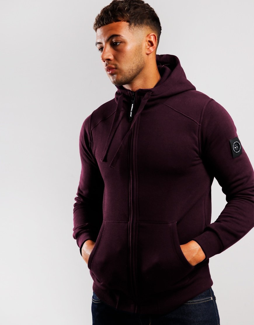 Marshall Artist Siren Hooded Zip Sweat Burgundy