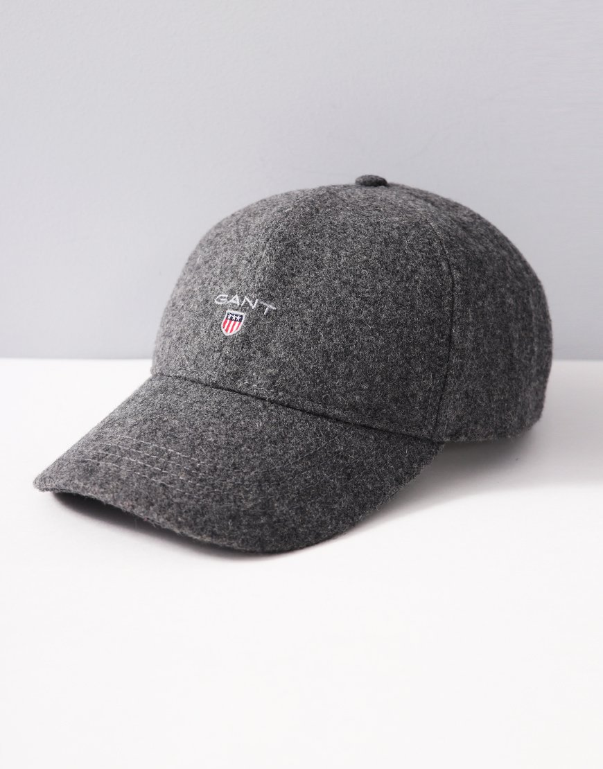 Gant Melton Wool Cap Dark Grey Melange