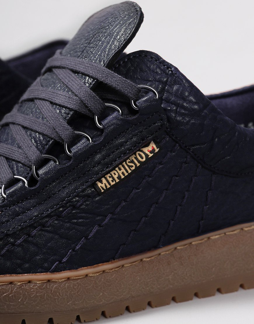Mephisto Rainbow Mamouth Leather Eco Shoes Navy