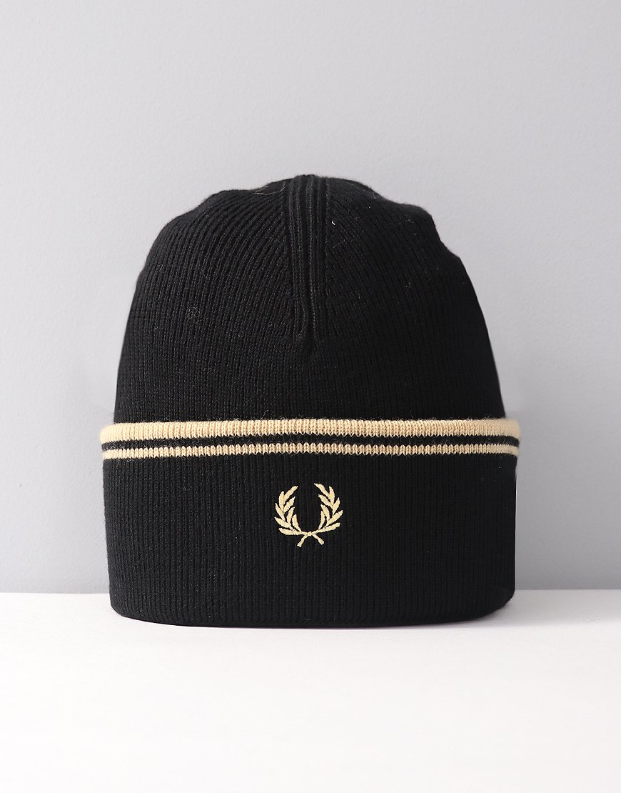Fred Perry Twin Tipped Merino Wool Beanie Black