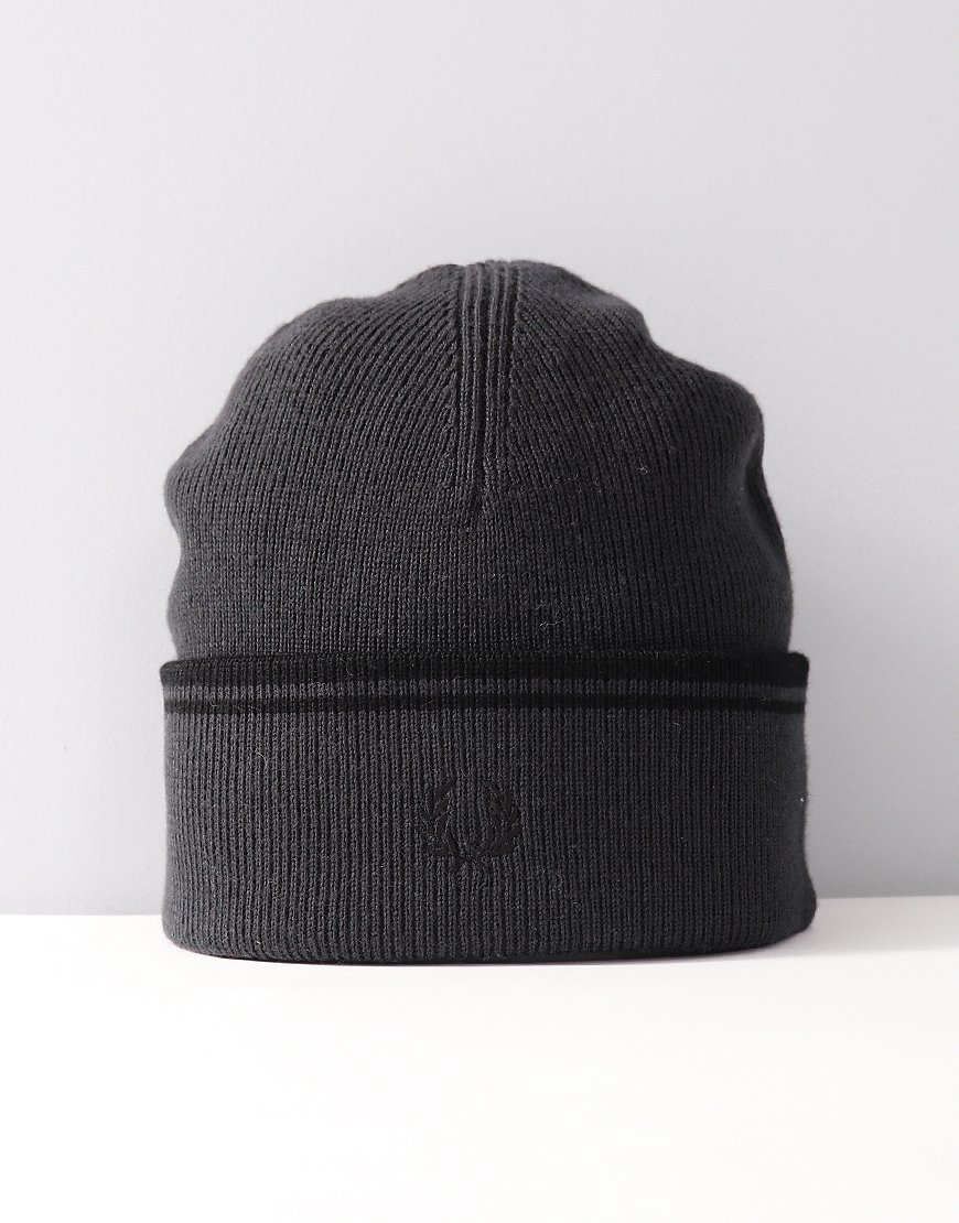Fred Perry Twin Tipped Merino Wool Beanie Slate