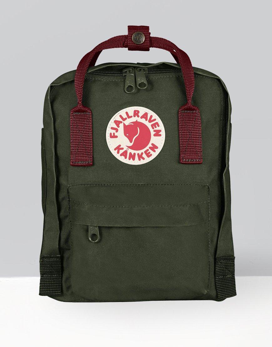 Fjällräven Kånken Mini Backpack Forest Green/Ox Red