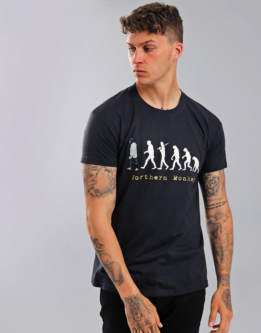 Eighties Casuals Northern Monkey T-Shirt Navy