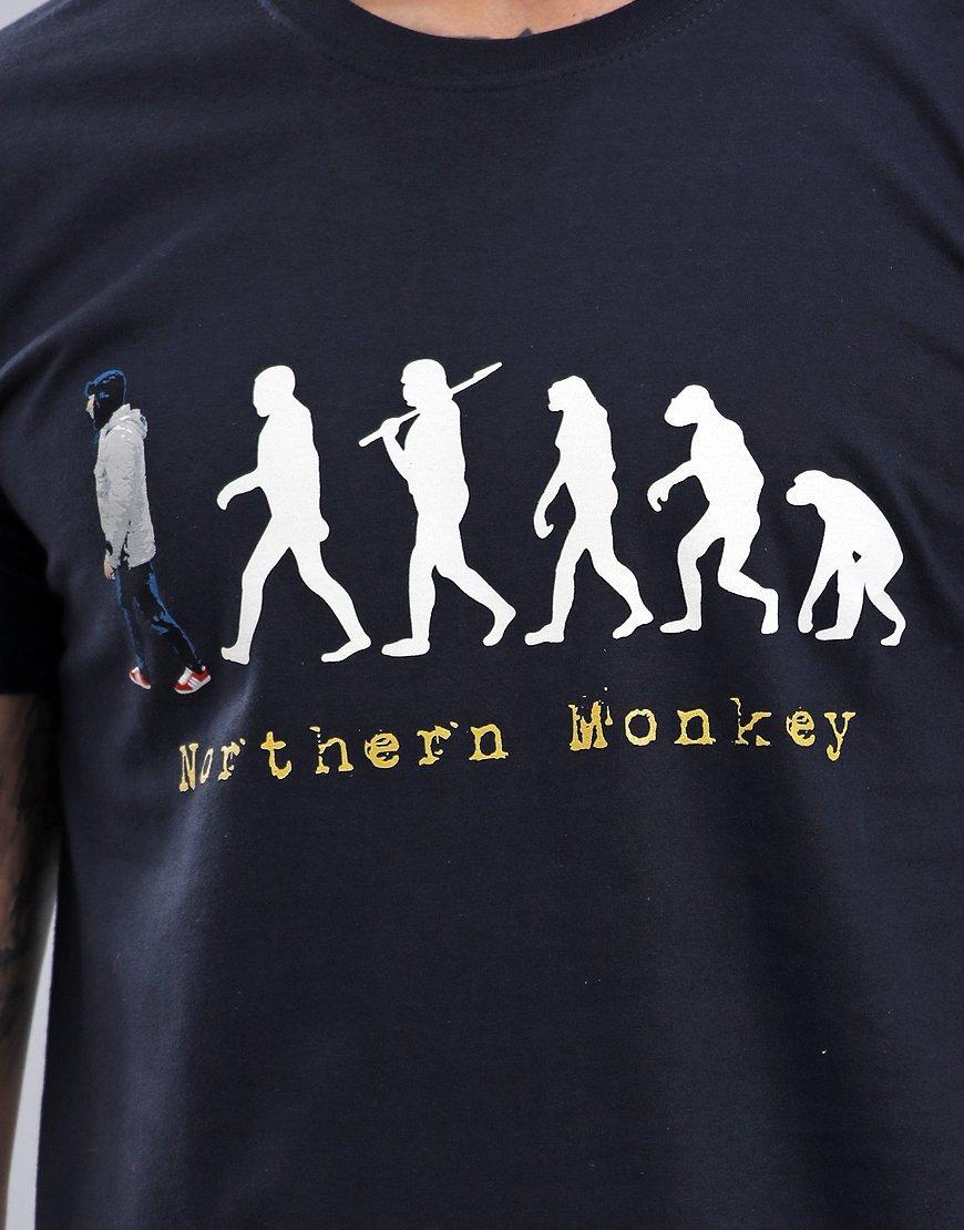 Eighties Casuals Northern Monkey T-Shirt Navy