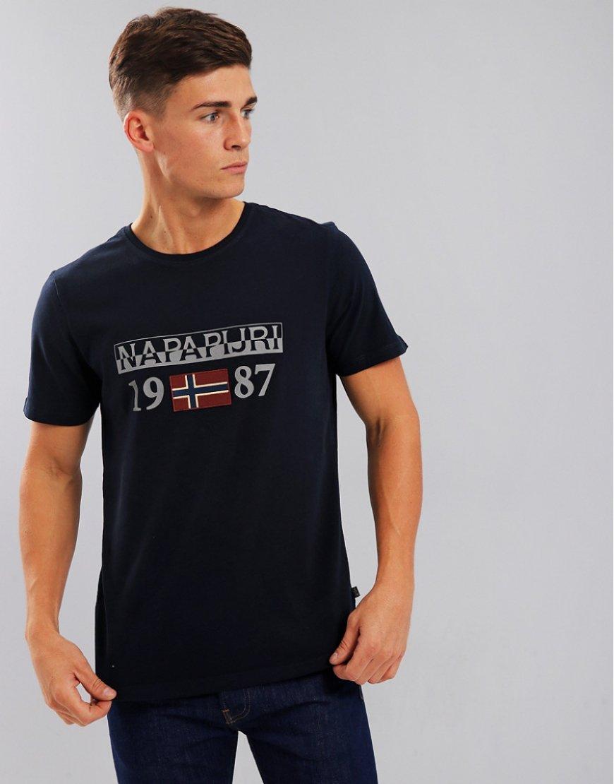 Napapijri Solin T-Shirt Blu Marine
