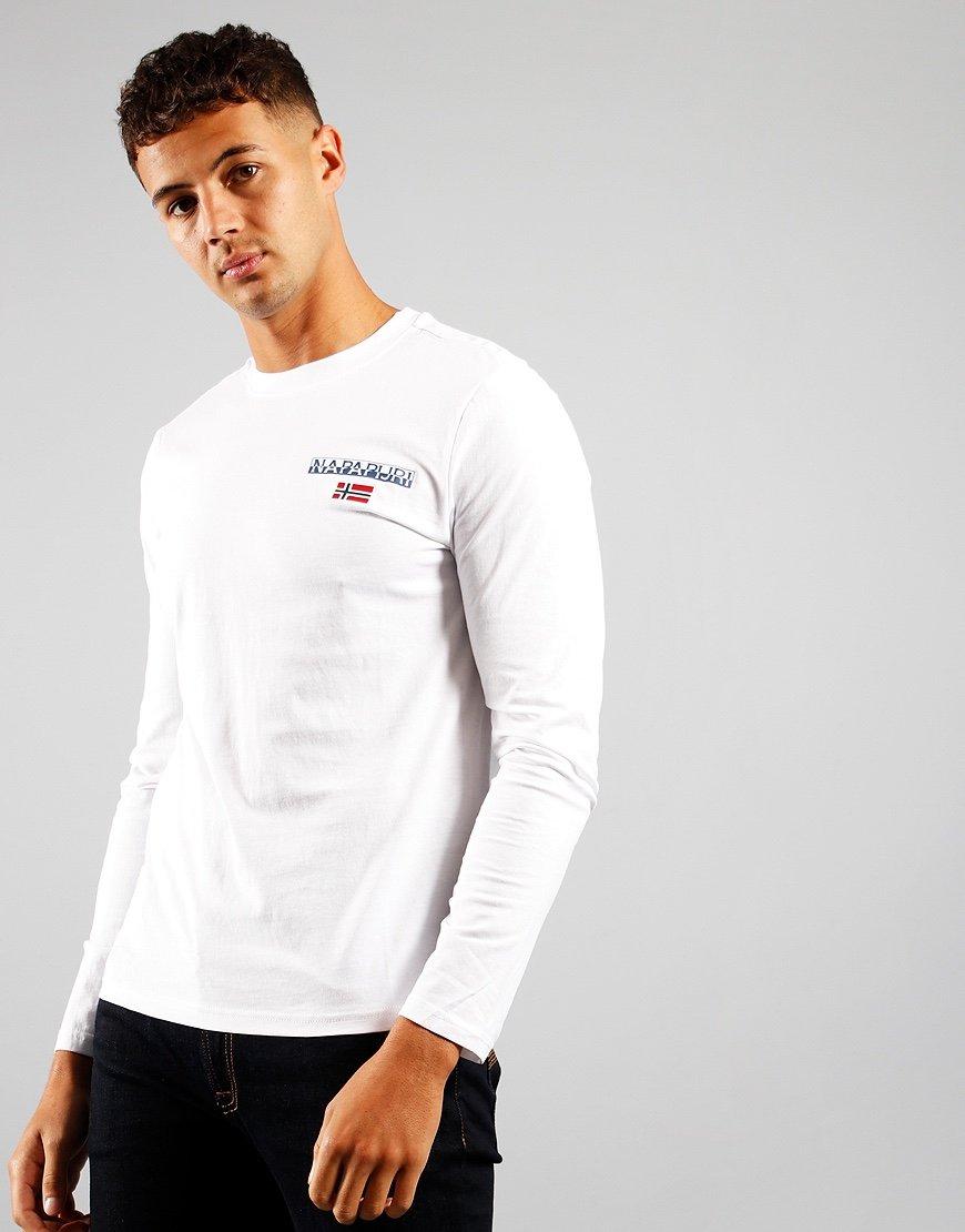 Napapijri S-Ice Long Sleeved T-shirt Bright White