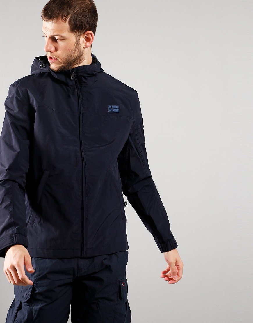Napapjiri Shelter Hooded  Jacket Blue Marine