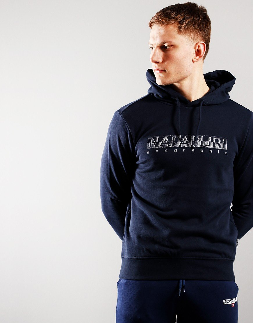 Napaijri Ballar Hooded Sweat  Blue Marine