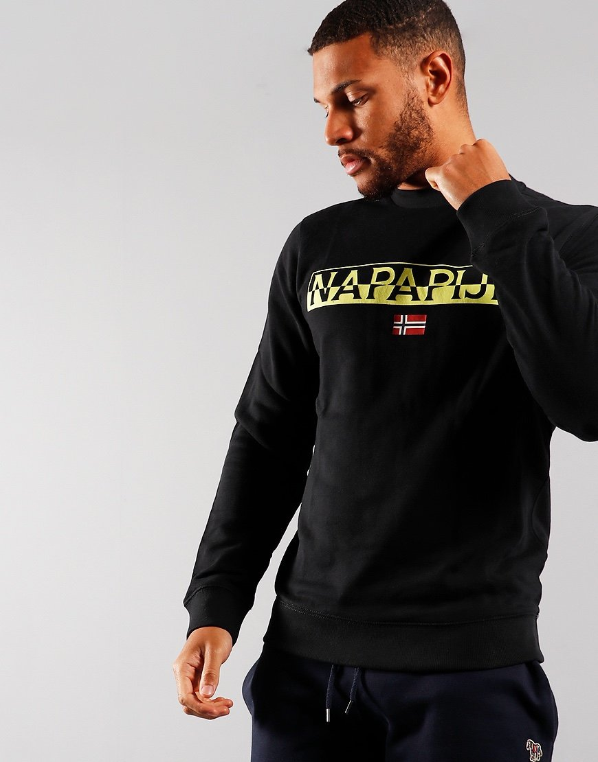 Napapijri Baras Crew Neck Sweat Black