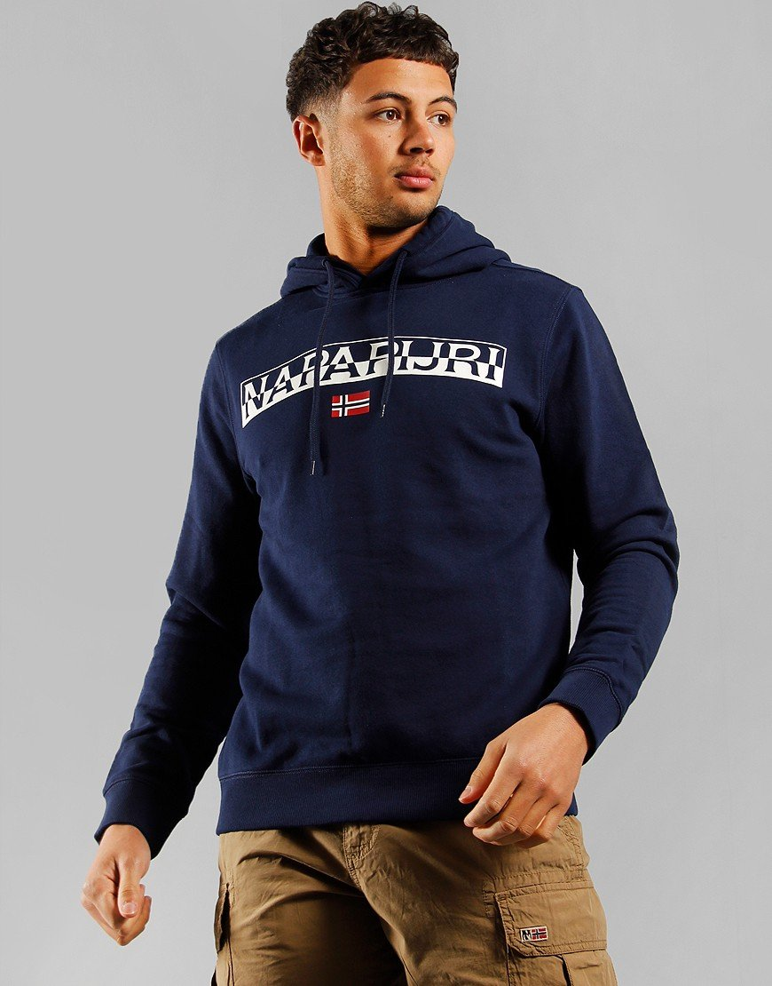 Napapijri Baras Hooded Sweat Medieval Blue