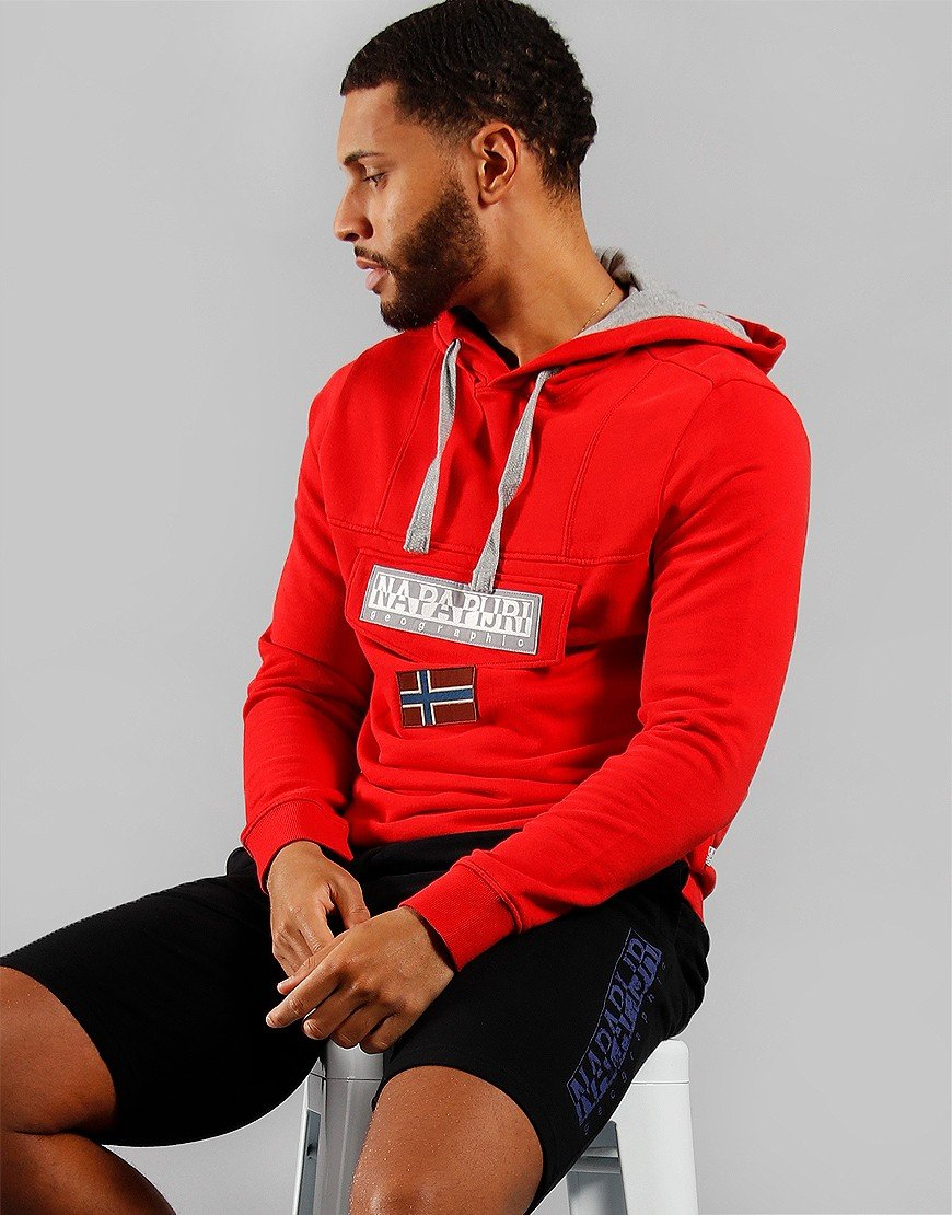 Napapijri Burgee Summer Hoodie Bright Red