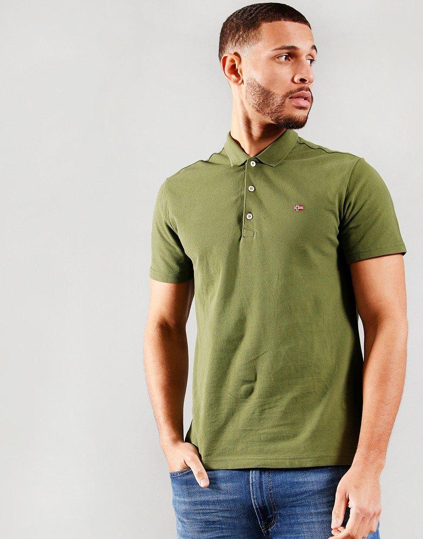 Napapijri Ealis Polo Shirt Green Cypress