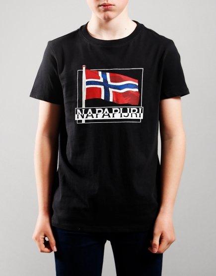 Napapijri Kids Seji T-Shirt Black