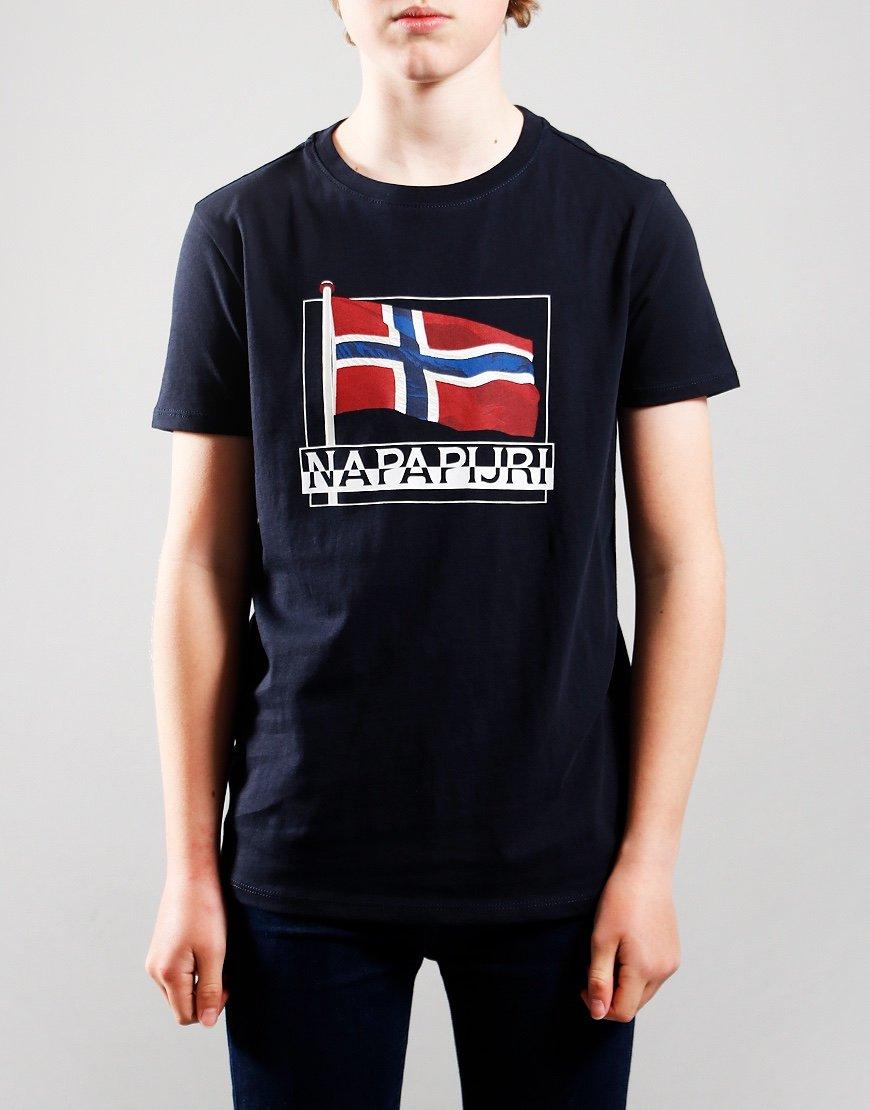 Napapijri Kids Seji T-Shirt Blu Marine