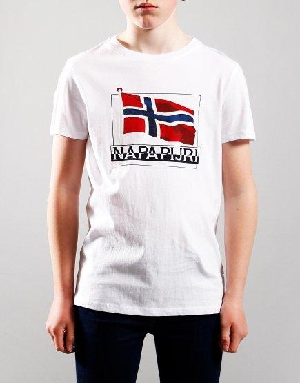 Napapijri Kids Seji T-Shirt Bright White