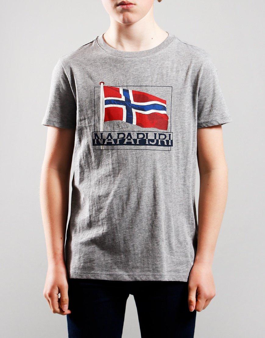 Napapijri Kids Seji T-Shirt Med Grey Marl