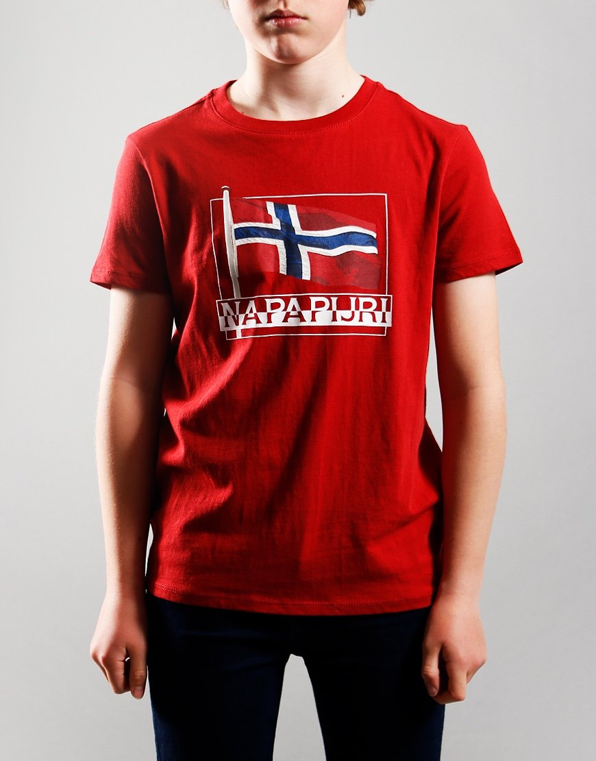 Napapijri Kids Seji T-Shirt Old Red