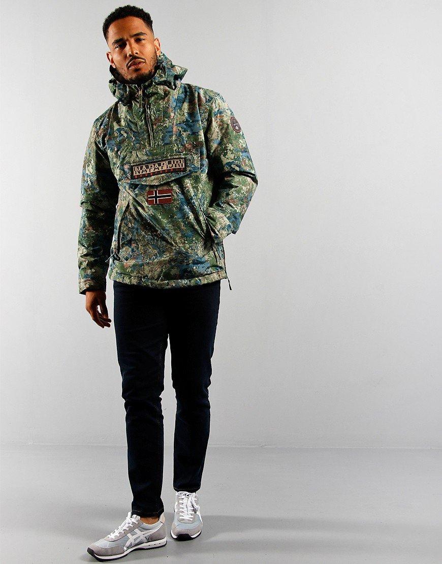 Napapijri Rainforest Pocket Jacket Green AOP