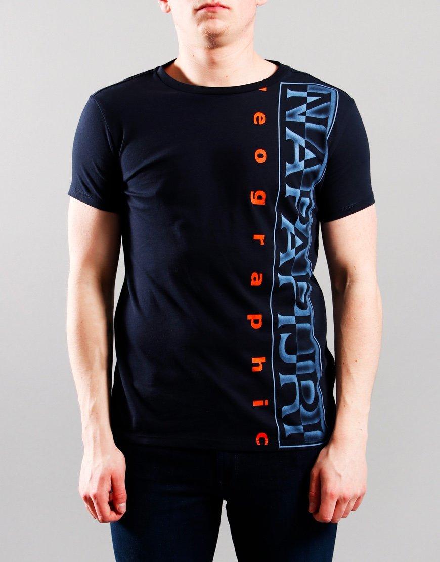 Napapijri Kids Sadyr T-Shirt Blu Marine