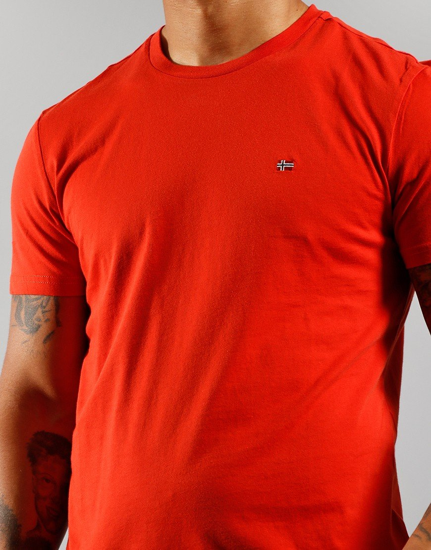 Napapijri Salis C T-Shirt Orange Clay