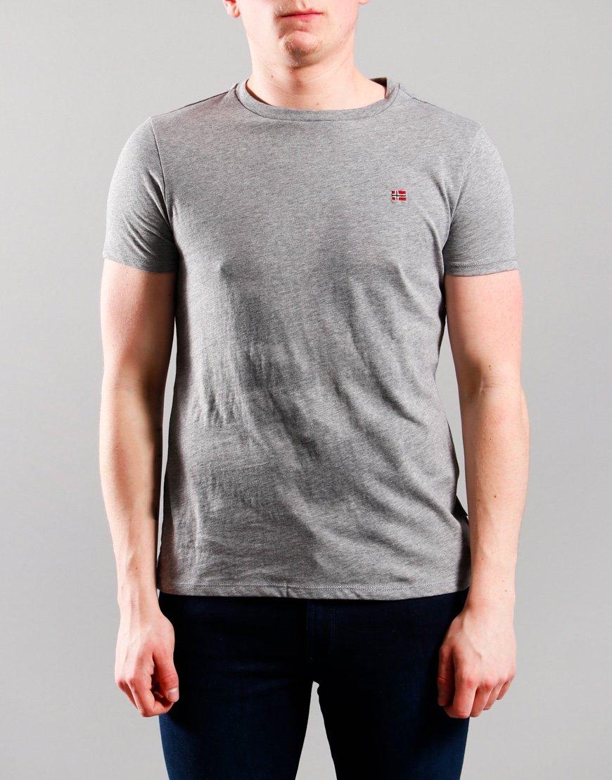 Napapijri Kids Salis T-Shirt Mid Grey Marl