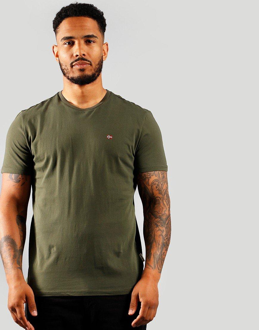 Napapijri Salis C T-Shirt Green Depths