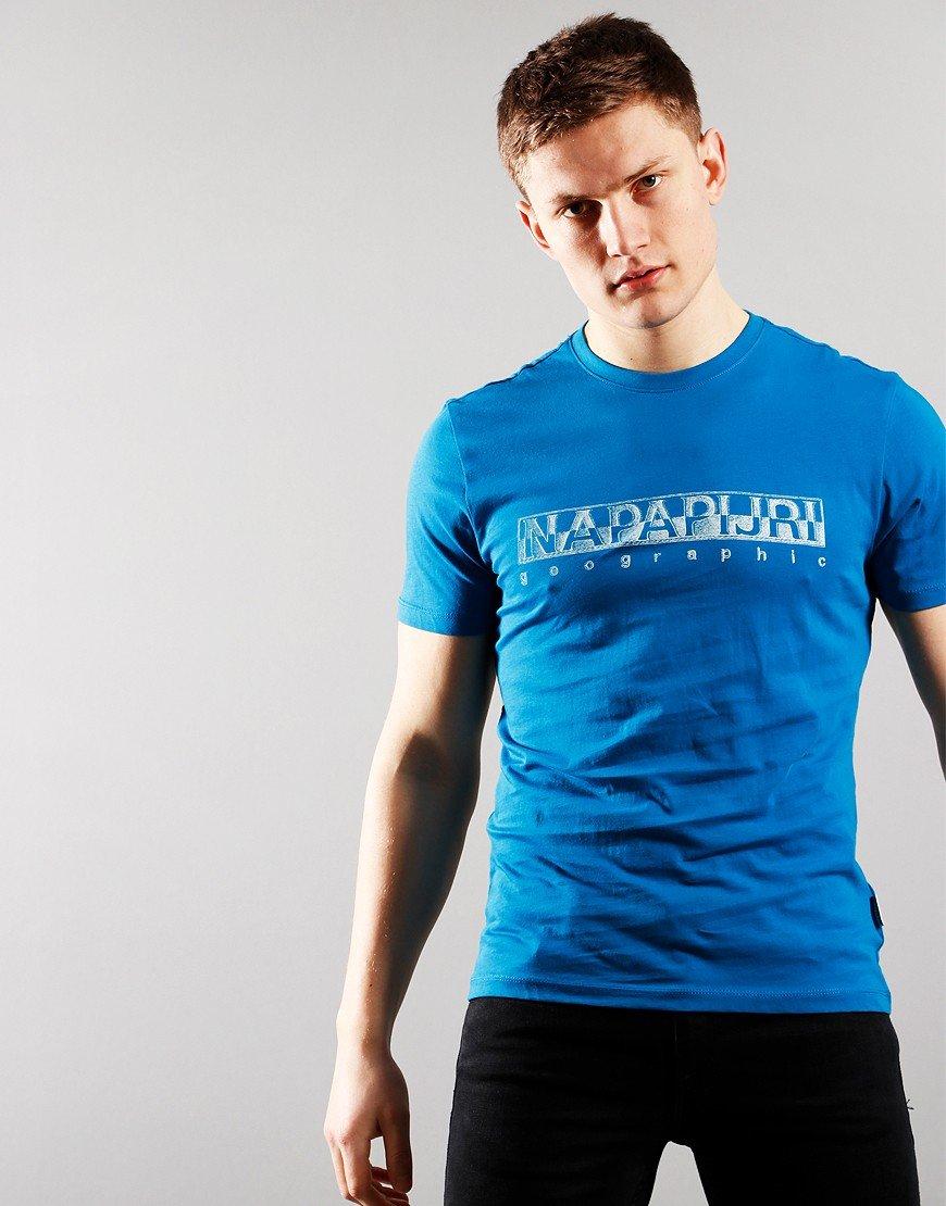 Napapijri Sallar Short Sleeve T-Shirt Mykonos Blue