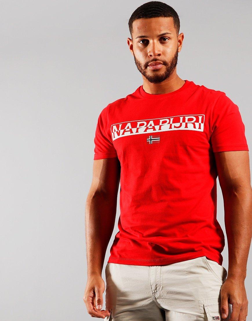 Napapijri Saras Solid T-shirt Bright Red