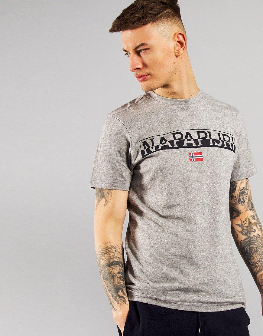Napapijri Saras Solid T-shirt Mid Grey Marl