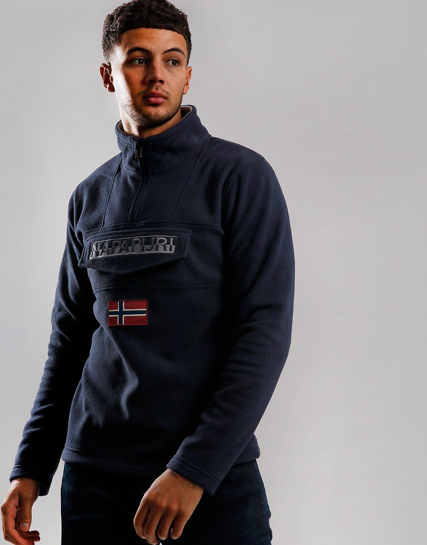 Napapijri Ted Half Zip Fleece Navy
