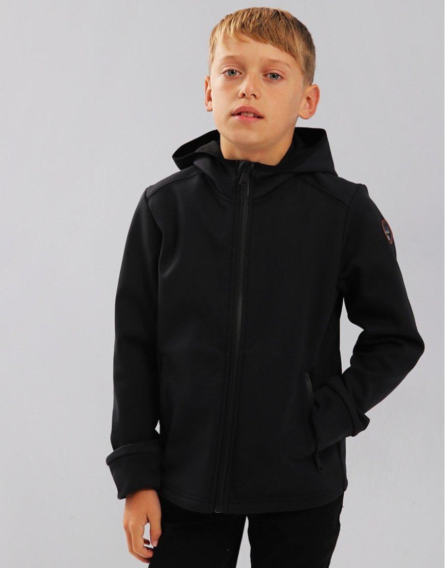 Napapijri Kids Addison Hooded Soft Shell Jacket Black