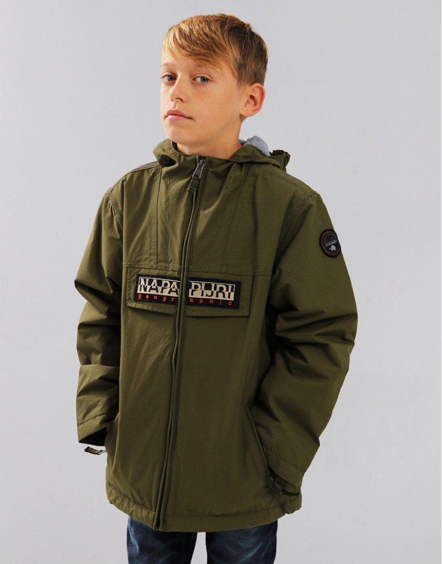 Napapijri Kids Rainforest Open Jacket Green Musk