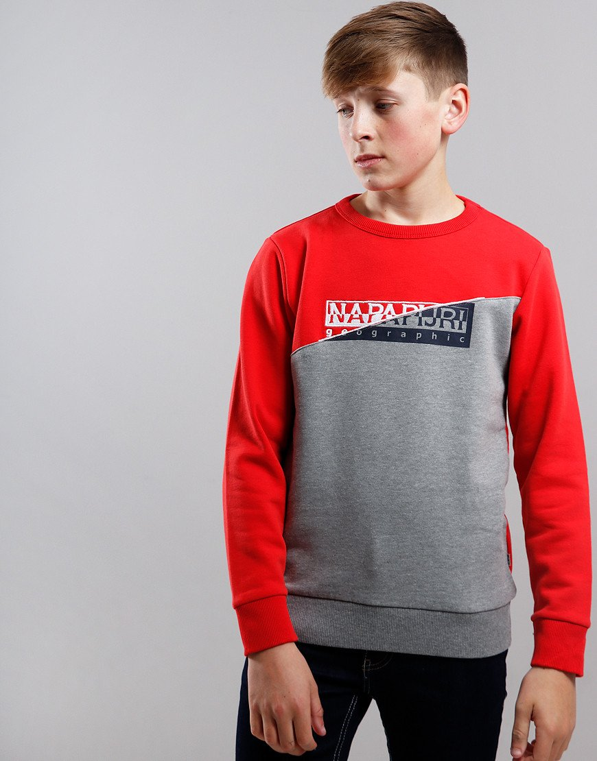 Napapijri Kids Baky Crew Neck Sweat High Risk Red